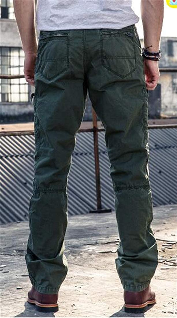 Cromoncent Mens Casual Rugged Combat Outdoor Multi Pockets Cargo Pants Trousers