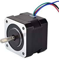 STEPPERONLINE Nema 17 Bipolar Stepper Motor 37oz.in 0.4A 42x42x34mm 4 Wires for DIY 3D Pinter CNC Reprap Arduino