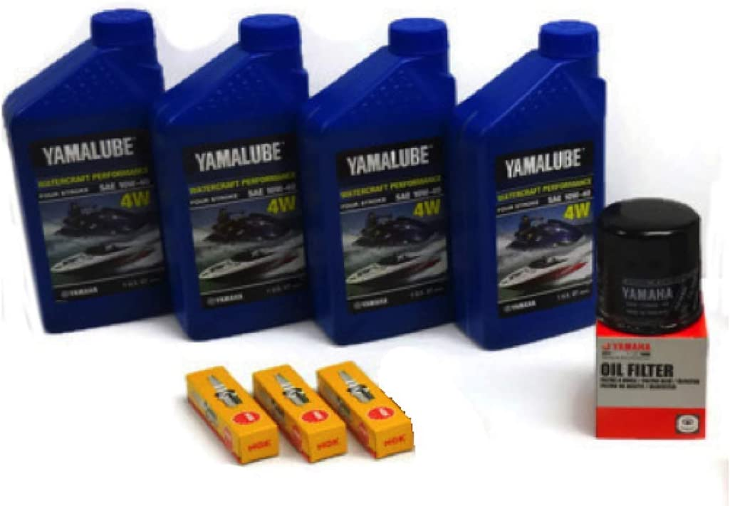 Yamaha 2016-2021 VX Deluxe/Cruiser/Sport with TR-1 (1049CC) Oil Change Kit w/NGK Spark Plugs