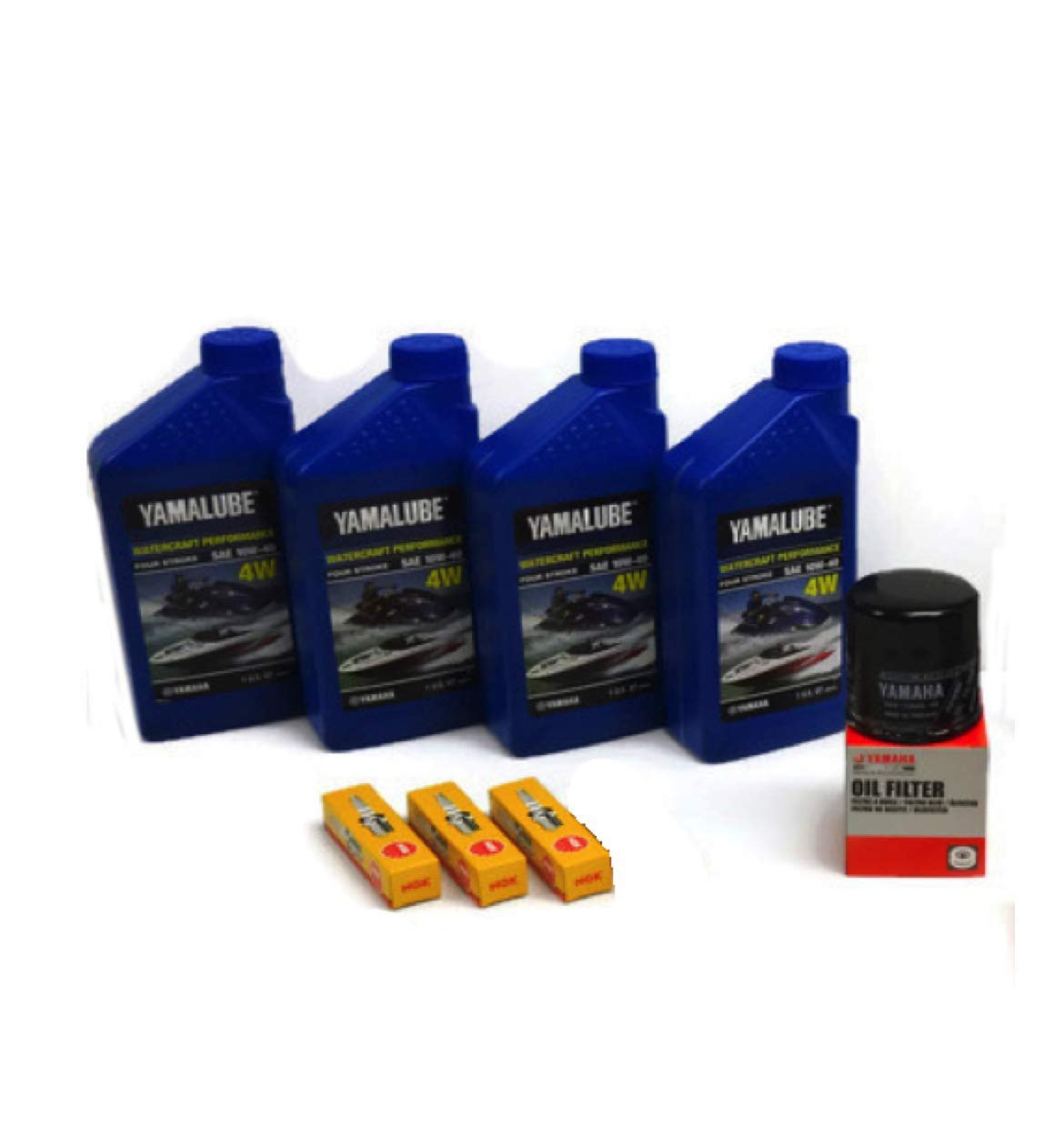 Yamaha 2016-2019 VX Deluxe/Cruiser/Sport with TR-1 (1049CC) Oil Change Kit w/NGK Spark Plugs by YAMAHA