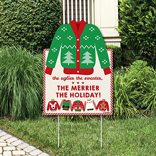 (Big Dot of Happiness Ugly Sweater - Party Decorations - Holiday & Christmas Welcome Yard)