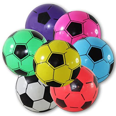4 Pièces de football env. 18 cm, et résistantes aux ballon balle de jeu pour chien/ballon de plage, katzenball