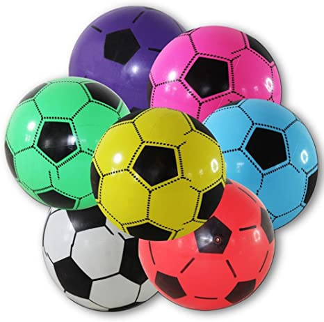Balón de fútbol 12x pelotas de plástico de 20 cm: Amazon.es: Deportes y aire libre
