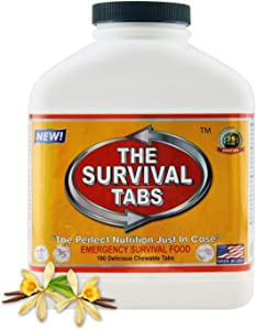 Astronaut Food MRE Food Ration Meals Ready to eat Emergency Survival Tabs Thuc Pham Chuc Nang The Survival Tabs for Disaster Preparedness - 180 Tablets 25 Years Shelf Life - Vanilla Malt Flavor