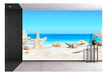 Amazoncom Wall26 Landscape With Seashells On Tropical Beach