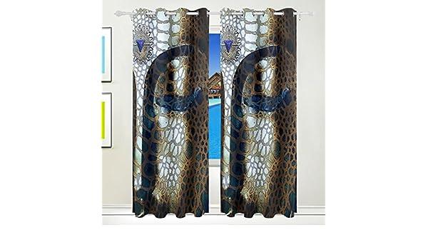 Ethel Ernest abstracto Buda Digital ventana cortinas opacas con ojal, 55 W x 84L pulgada, estor para ventanas de autocaravanas térmica Sun-proof cortinas para dormitorio, sala de estar, de los cuales 2