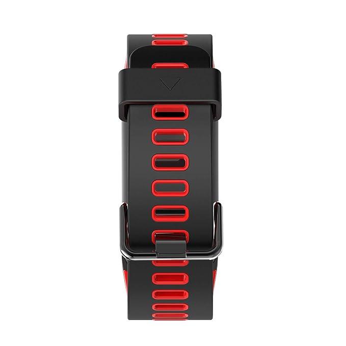 Color de la Pantalla de Pulsera Tensiómetro de Sangre Oxígeno Frecuencia Cardíaca Detección de Movimiento GPS Track meteorológica Ascensor Impresión IP68 ...