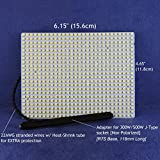 WATER-RESISTANT LED Light panel for RETROFIT 300W/500W Halogen light fixtures -- Cool White (6000K) LED color. P/N: SPTL616LRC