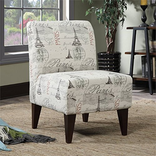 Picket House Furnishings North Accent Slipper Chair in Paris Script
