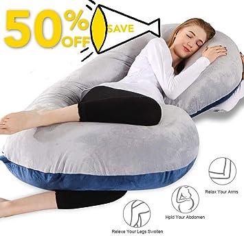 Amazon.com: Almohada de embarazo, 55 pulgadas, almohada de ...