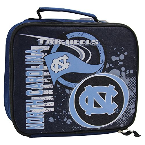 Carolina Lunch Box - The Northwest Company Officially Licensed NCAA University of North Carolina Accelerator Lunch Kit Bag, Red, 10.5