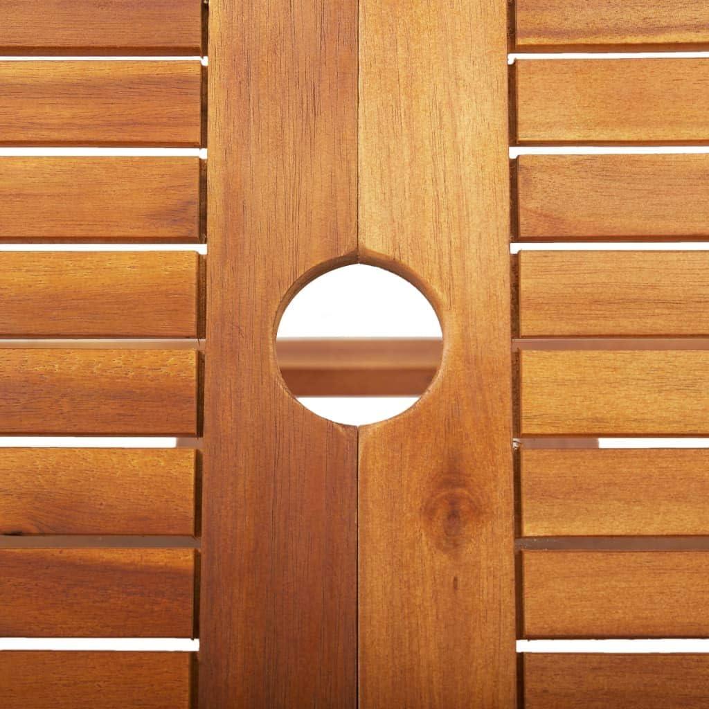 vidaXL Akazienholz Massiv Gartentisch Klappbar Esstisch Holztisch Balkontisch Klapptisch Terrassentisch Garten Tisch Gartenm/öbel 135x85x75cm