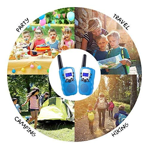 ISCOOL Walkie Talkies for Kids Long Range Two Way Radio Kids Walkie Talkies 22 Channel Outdoor Toys for Girls and Boys(2 PCS ,Blue by iscool (Image #6)