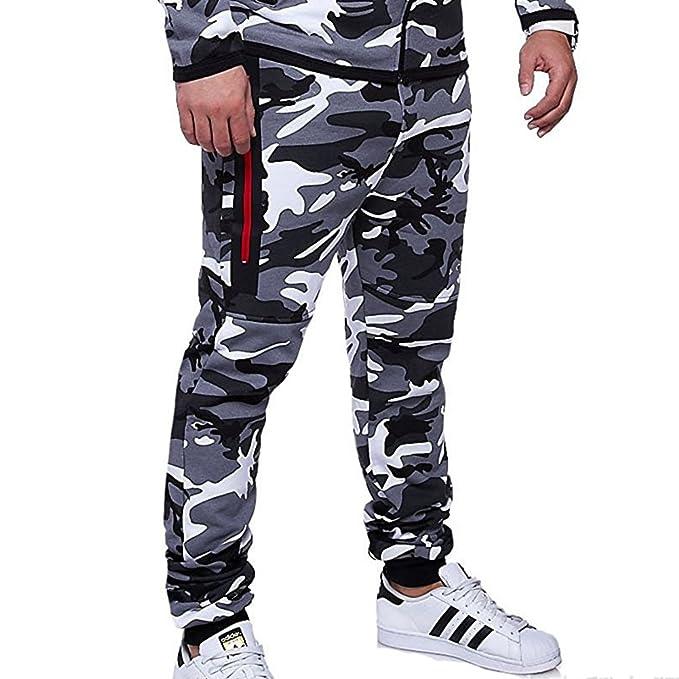Pantalones Hombre Chándal Camuflaje Pantalones de Deporte Pantalones Jogging Slim Fit Pantalones Casuales Cómodos Modernos Yying 1eARz