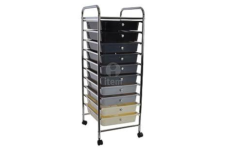 Organizer Ufficio Fai Da Te : Cassettiera plastica cassettiera ufficio mobile cassetti carrello