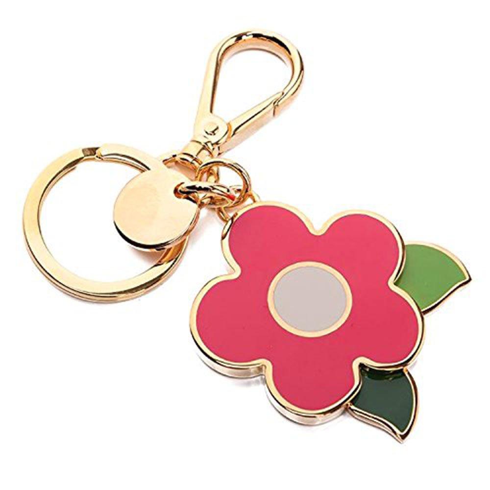 Prada 1PS644 Acciaio Smalto Portachiavi Metallo Metal Flower Handbag Charm Pink
