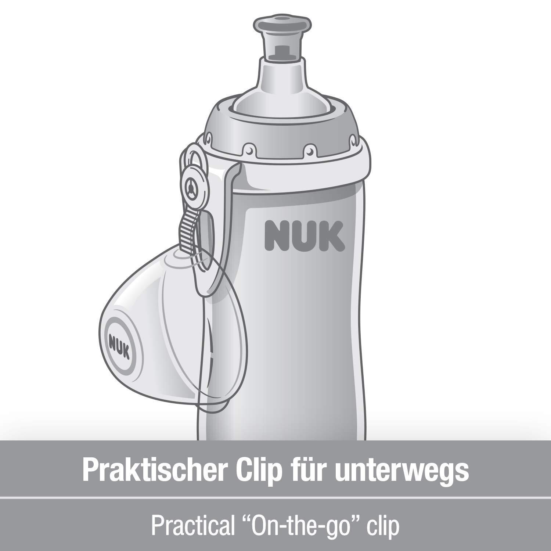 Katze BPA frei 300ml mit Push-pull-T/ülle /& Clip Rosa Nuk Junior Cup Trinklernflasche auslaufsicher