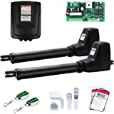 TOPENS AT1202 Automatic Gate Opener Kit Heavy Duty Dual Gate Operator for Dual Swing Gates Up to 18 Feet or 880 Pounds…
