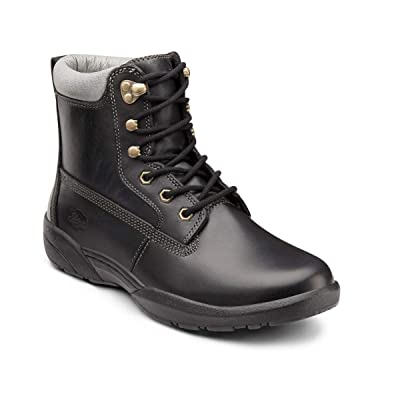 Dr. Comfort Men's Boss Diabetic Boots: Black 9 X-Wide (3E/4E): Shoes