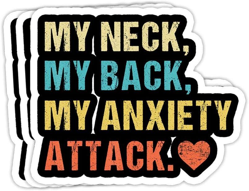 Anxiety Anxietea Sticker Vinyl Decal Wall Laptop Window Car Bumper Sticker 5