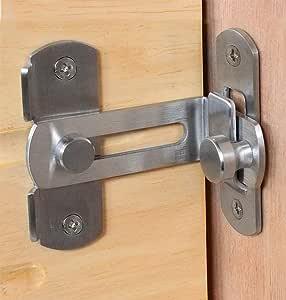 El cerrojo de la puerta del granero de la cerradura de la puerta de 90 cerraduras de ángulo recto que doblan las puertas y ventanas del retrete del cerrojo: Amazon.es: Bricolaje y