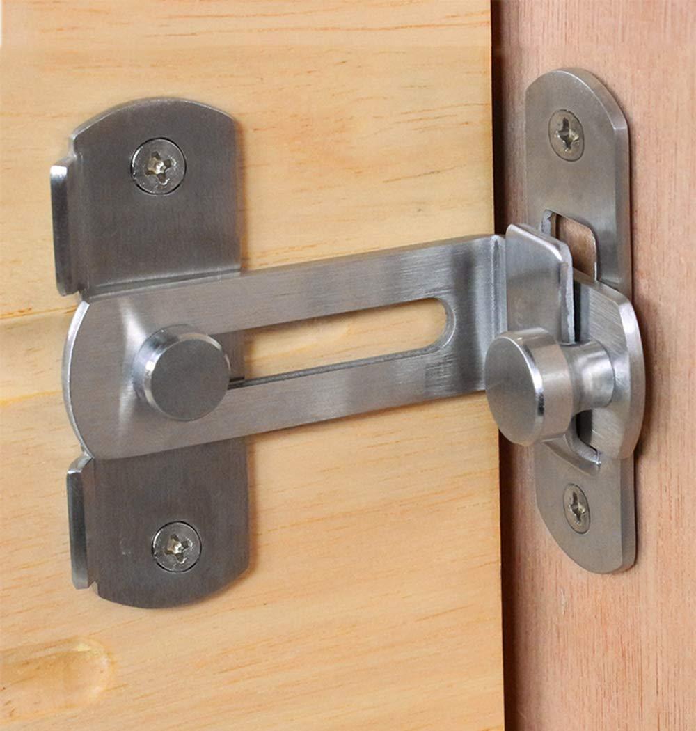 DINGCHI  The 90 Door Buckle Bolt barn Door Lock Right Angle Bending Latch hasp Toilet Doors and Windows