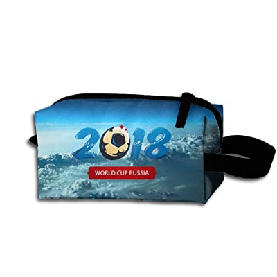 Stylish World-Cup-2018 Makeup Organizer Clutch Bag Pencil Case Toiletry Bag Toiletry Pouch With Zipper For Women Girls