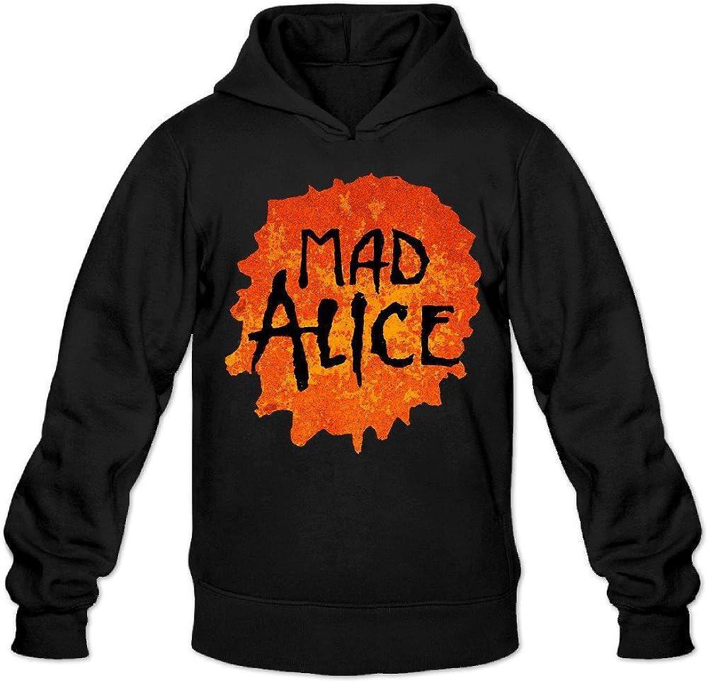 Alice In Chains Logo Mad Alice Men's Black Classic Sweatshirt Hoodie