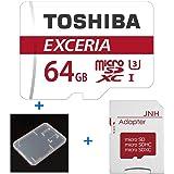 東芝 Toshiba 超高速U3 4K対応 microSDXC 64GB + SD アダプター + 保管用クリアケース [並行輸入品]