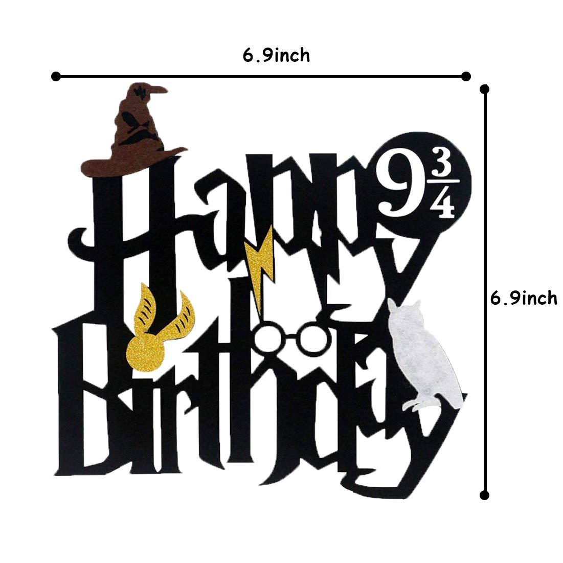 Harry Potter Cake Toppers Cumpleaños Decoraciones de Pastel ...