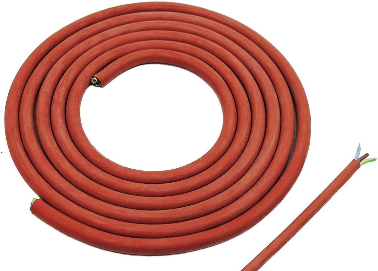Doubl Eyou Geovlies /& Building Materials/® Silicone Cable 3/x 1.5/mm Cut 3/m Cable Cables/ Ideal For Use In The Sauna /Heat Resistant