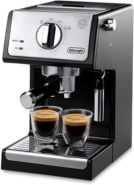 DeLonghi A-3220-RMB Espresso Cappuccino Maker Manual Frother, 9.6 x 7.2 x 11.9, Black