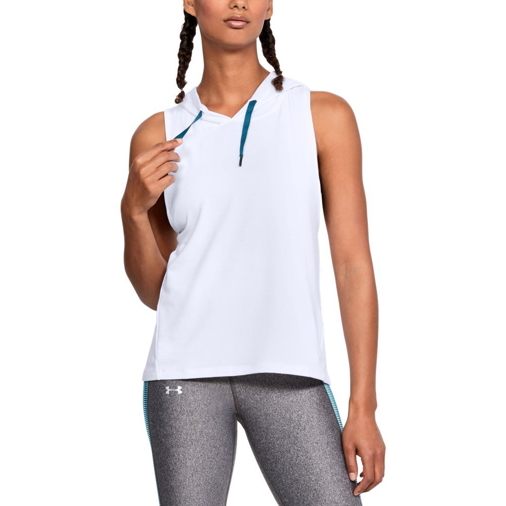 Under Armour Women's Modal Terry Vest, White /Tonal, Medium by Under Armour