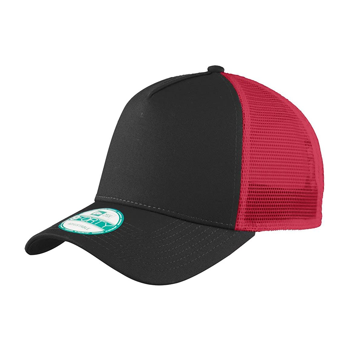 e5e026d4 New Era Snapback. Custom Trucker Cap. Embroidered. Your Own Logo Embroidery.  (Black 001) at Amazon Men's Clothing store: