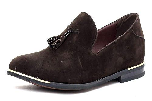 nuevo de hombre Zapatos De Ante Sin Cordones Borla Moda Mocasines Inteligentes Vestido Casual Size UK: Amazon.es: Zapatos y complementos