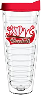 product image for Smile Drinkware USA-LOVE BASEBALL 26oz Tritan Insulated Tumbler With Lid and Straw