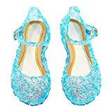 Cinderella Baby Girls Soft Crystal Plastic Shoes Children's Princess Shoes(Toddler/Little Kid) Blue