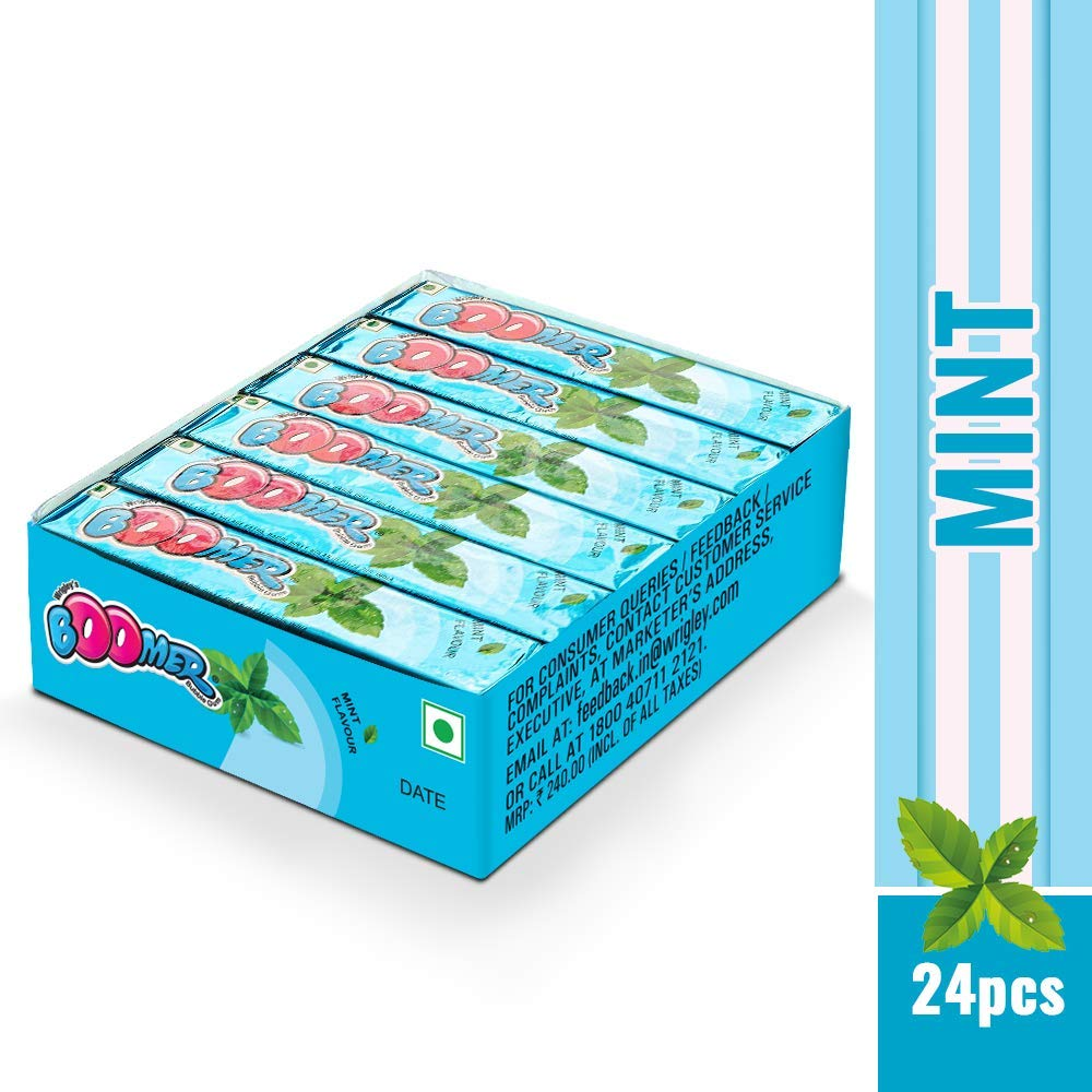 Wrigley Boomer Multipack, Fresh Mint (24 Pieces): Amazon.in: Grocery ...