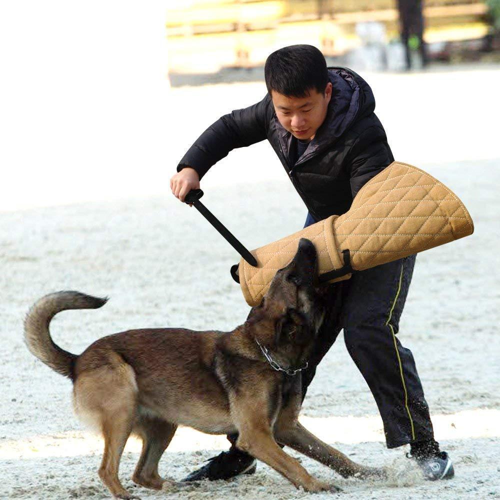 Dog Training Bite Sleeve, Durable Jute Dog Training Bite Arm Sleeve Arm Protection Tub Dog Bite Chew Training Arm Sleeve Training Young Puppy Medium Size Dog (USA Stock) by SHZICMY (Image #2)