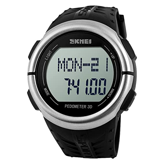Digital Watches Men's Watches Skmei Men Sports Watches 3d Pedometer Heart Rate Monitor Calories Counter 50m Waterproof Digital Led Mens Wristwatches