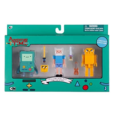 Adventure Time Collectors Pixel Pack Limited Edition Finn, Jake, BMO: Toys & Games