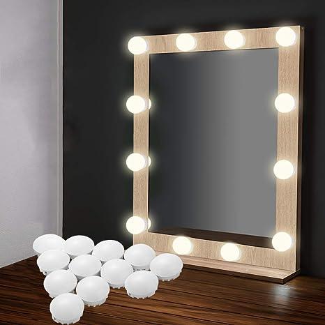 image plug vanity lights grey eeieer vanity lights kit with usb plug hollywood style 12 makeup mirror led bulbs amazoncom