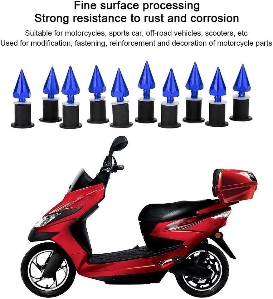 Qiilu Windschutzscheibe Windschutzscheibe Spike Bolzen M5 Schrauben Muttern Windschutzscheiben Installationskit Motorrad Modifikation Zubeh/ör Gold