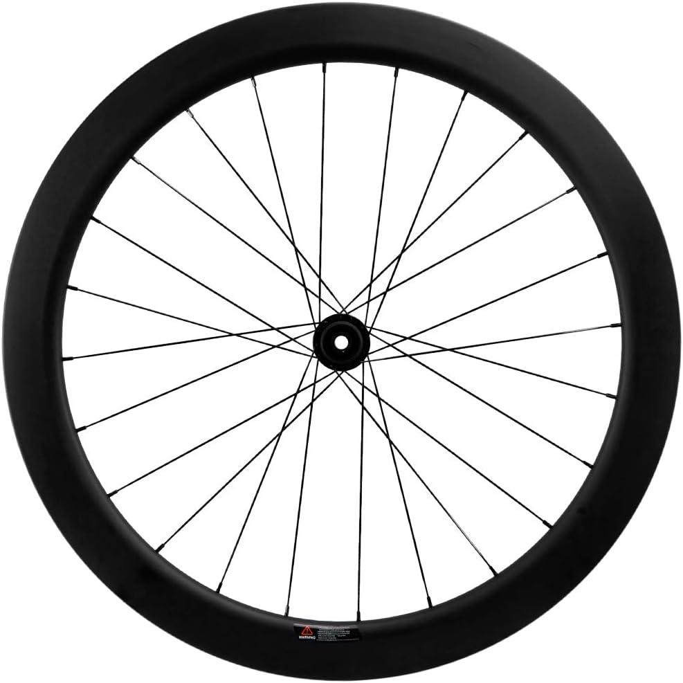 Superteam Carbon Road Bike Disc Brake Wheelset 55mm Clincher Tubeless Ready Rim 25mm