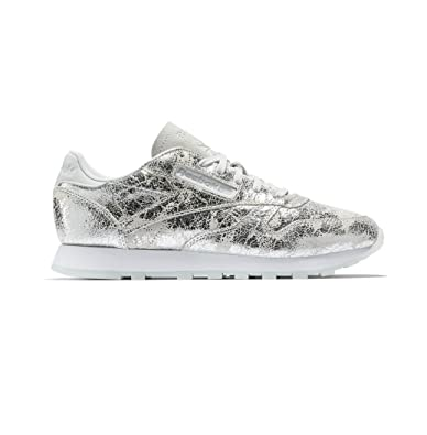 e613574a2 Reebok Classic Leather Hype Trainers Metallic  Amazon.co.uk  Shoes ...