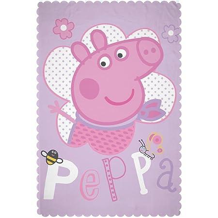 Peppa Pig Happy Fleece Blanket Large Print Design