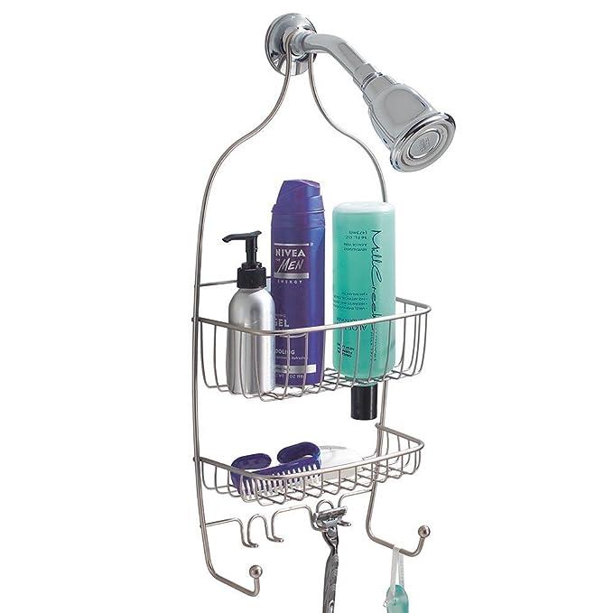 mDesign Estanteria para ducha - para colgar sin taladrar ...