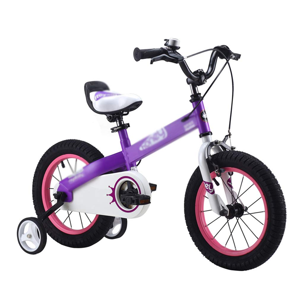 alta calidad y envío rápido púrpura Bicicletas Infantiles y y y Accesorios niños de una Sola Velocidad Niño Niña Estudiante Marco de Acero de Alto Carbono, 12 14  16 18 , Regalo Hermoso 12inches  oferta de tienda