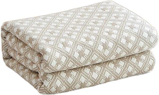 Acolchar Toalla Algodón Manta de Gasa Individual Cama Doble Verano Aire Acondicionado Manta Manta Japonesa Ropa Cama (Color : Khaki, tamaño : 150 * 200cm): Amazon.es: Hogar