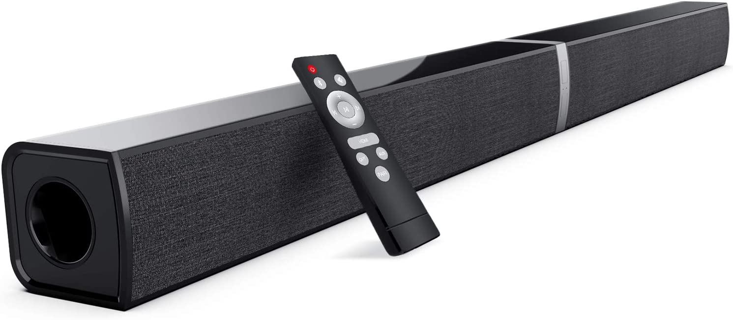 TV Sound Bars, COWIN 2020D Split Soundbar Wired & Wireless Bluetooth Sound Bars with 3D Surround Sound System 30 Inch Home Theater TV Audio Speaker (Optical/HDMI/Aux/Remote Control/Wall-Mounted)